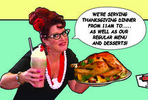 Thanksgiving, Christmas and New Years at the diner!