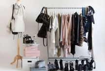RACKS    / Styling rails and racks for a minimal yet effective closet option !