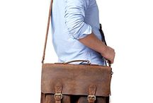 Leather Vintage Briefcase Messenger Bag
