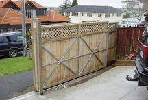 スライドフェンス sliding wood fence