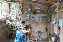 Art studio at home