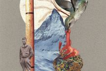 The bird watcher / collage