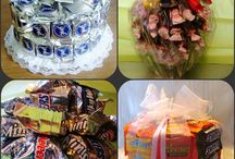 GFTK:  Candy Arrangements / #Candy Arrangements  #Candy Bar Cakes / by Gifts From The Kitchen