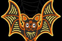 Retro Halloween Designs 2013 / 30 new machine embroidery designs from CinDes.  http://cindysembroiderydesigns.com/Retro-Hallow-2013.html