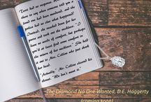 The Diamond No One Wanted / Quotes and teasers from my upcoming mystery novel