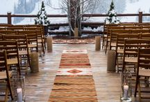 Mountain wedding in winter