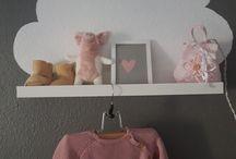 wolken kinderzimmer mädchenzimmer rosa