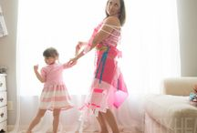 Fashion By Mayhem / Mother & Daughter ( 4 yrs old ) dresses constructed from paper and tape !!!!