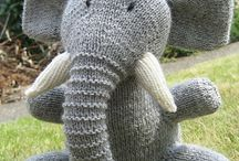 Toy knitted elephant
