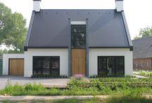 modern landelijk / vrijstaande moderne woningen met een landelijke uitstraling