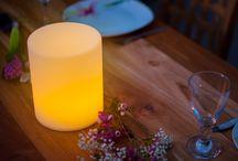 kabellose LED Tischleuchten / Die perfekte Lösung für den schön dekorierten Tisch. Privat oder in der Gastronomie, immer ein toller Effekt