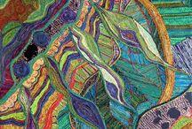 Yarn Art / Art made with yarn and art with yarn as the subject.