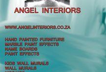 Wall murals and paint techniques / Angel Interiors  We do kids wall murals and for public places. see our web www.angelinteriors.co.za