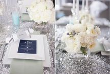 Silver event party decor / #decor #event #silver