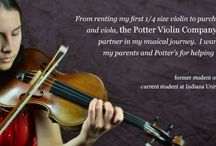 Potter Violin Company ads / The best of the Potter Violin Company advertising.