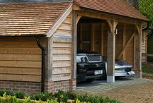 Garage Design / Design of a three car garage for a residential property in the south of England