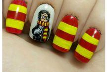 Harry Potter Freehand Nail Art / Harry Potter Nail Art
