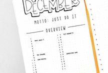 Bullet journal / All the ideas I need for when I ever starting one
