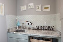 Traditional Laundry Room - Norwell, MA / Keep the laundry moving and all of your supplies organized with a well-designed laundry room.  This laundry room design was completed as part of a kitchen renovation, and includes a side-by-side  washer and dryer, a countertop work space, a utility sink, and lots of storage. Photos by Susan Hagstrom