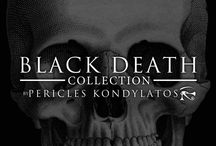"""""""Black Death"""" Collection by Pericles Kondylatos / """"Black Death"""" - one of a kind - winter collection by Pericles Kondylatos, is a unique assembly of Gothic & Gypsy elements. The dark, ominous, nightmarish, & Victorian elements come together with the  colorful, naïve &  bohemian compartments, to form a celebration of opposites"""