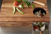 Cool Cutting Boards / Cutting boards are one of the most valuable items in a kitchen, in addition to protecting surfaces, they can double as elegant serving plates. Here we've collected some of our favourite cutting boards.