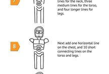 How to Draw a Cartoon C-3PO / by Andertoons