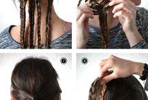 Flätat uppsatt hår