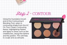 Contouring like a boss / Whether you're looking for how to contour, contouring for beginners, the latest strobing trend or even that crazy clowntouring, we have you covered!