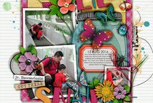 Scrapbook Layouts using products by Jenn Barrette Designs
