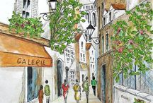 Scetches of cafes