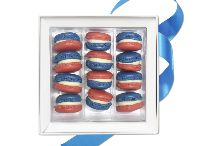 """Revolution! Mini-Macarons from Richart / Independence Day, Bastille Day… Both sides of the Atlantic celebrate freedom in July, which RICHART paid tribute to by creating these """"Revolutionary mini French macarons"""" / by Richart Chocolates"""