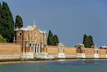Island of San Michele / San Michele is an island in the Venetian Lagoon. It is associated with the sestiere of Cannaregio in Venice, from which it lies a short distance northeast. Today is a cemetery. Among those buried there are Igor Stravinsky, Joseph Brodsky, Jean Schlumberger, Christian Doppler, Frederick Rolfe, Horatio Brown, Sergei Diaghilev, Ezra Pound, Luigi Nono, Catherine Bagration, Franco Basaglia, Zoran Mušič, Helenio Herrera, Emilio Vedova, and Salvador de Iturbide y Marzán.