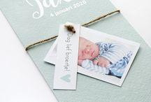 Geboortekaartjes / Geboortekaartjes - verkrijgbaar bij KaartjeVanOns.nl