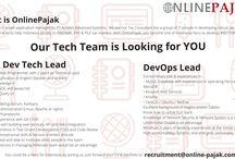 onlinepajak vacancies / info lowongan kerja terbaru dari OnlinePajak