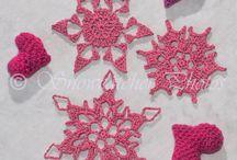 snowflakes etc crocheting