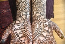 Detail / Mostly lace and henna