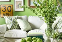 2017 Pantone Color of the Year / Color of the year Greenery in home decor