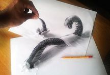 Drawings / Grayscale pencilart and drawings
