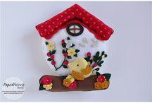 Felt Houses - Casette In Feltro / felt, houses, casette, feltro, handmade, cucito