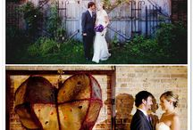 """Our Wedding / Mary & Hugh Salvage One Wedding Inspiration """"Vintage Chic, with a Scottish Touch"""" Color Scheme: Deep purple and accents, forest green and accents, black with use of McNeil tartan throughout"""
