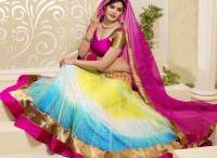 Designer Lehenga Choli / Lehenga Choli is a modernized and replaceable alternative to the traditional Sarees worn by women. Our Designer collection consists of a long Lehenga that flares towards the bottom, a tight-fitting Choli/Blouse, and a matching Dupatta.