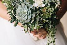 Rustic Wedding Bouquet whit Succulent