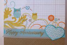 """Anniversary Cards"" I made"