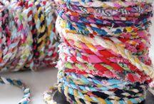 faire du fil avec restes de tissus