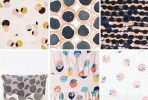 Print Inspirations - Dot Designs / Modern interpretations of classic #dot #patterns. Inspiration for your #print #designs. #spots #circles #spot #dots #polka #surfacepattern