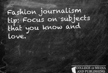 Fashion journalism tips / Handy fashion journalism tips from distance learning course provider, the College of Media and Publishing.