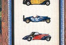 cross stitch cars,trains,...