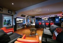 Man Cave ideas / Want to build your dream Man Cave? Here is a collection of ultimate audio/video solutions for your man cave!
