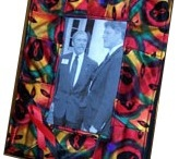 necktie picture frames by fabricatedframes.com / by artist / inventor Kristie Hubler fabricatedframes.com - WASHABLE FABRIC crafts