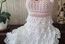 Крючок: юбки, платья